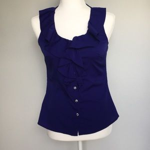 Banana Republic purple blouse with rhinestones XS